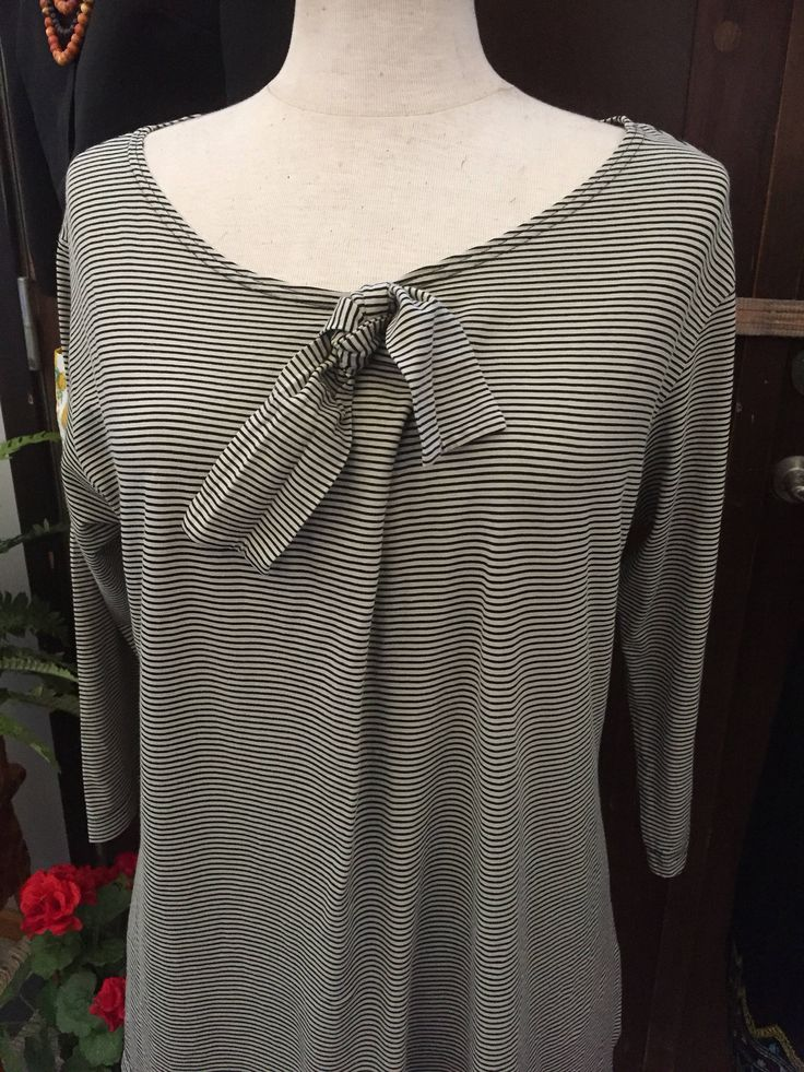 Marimekko/striped/top/sailor/black and white/ by WifinpoofVintage on Etsy