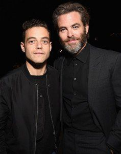 Chris with Rami Malek