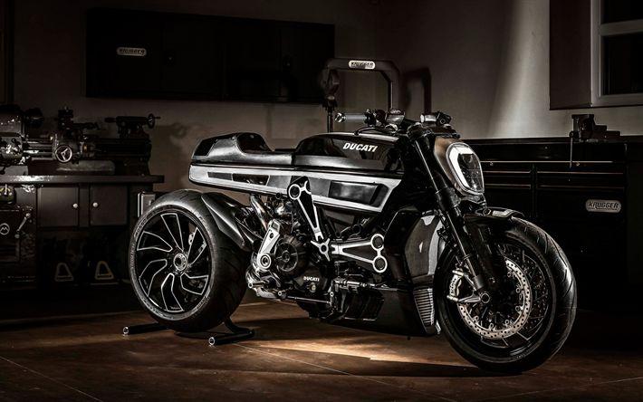 Hämta bilder Ducati XDiavel, 2017, Fred Krugger, Tuning, svarta motorcykel, XDiavel Thiverval