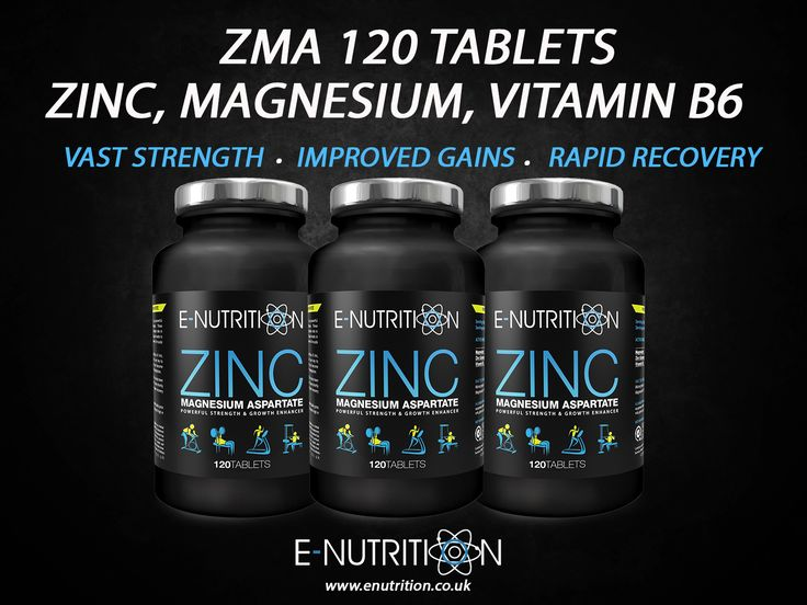 Zinc Magnesium Aspartate (ZMA) is a powerful strength & growth enhancer. These triple-action tablets play an important role in protein synthesis & increase insulin levels in the body which stimulate the growth of muscle tissue. These tablets provide high quantities of Zinc, Magnesium & Vitamin B6 which are key to healthy biological functions but can come depleted through perspiration or metabolism.