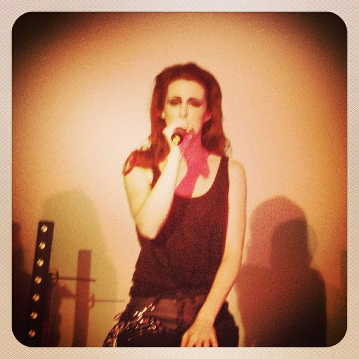 Siobhan Donaghy performing for the first time in public as MKS in Shoreditch for Ponystep NYE Party 2012/2013.