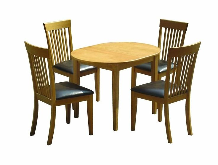 Devon Dining Set Solid Oak Butterfly Extension Table And 4 Chairs With Faux Leather Seats Dimensions X When Extended Chair