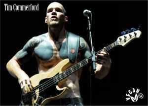 Tim Commerford, músico de Rage Against The Machine. Vegano.