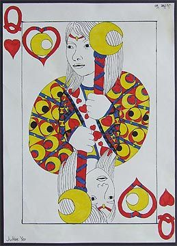 Self-Portrait Playing Card Designs. Would be a great drawing + Photoshop project.