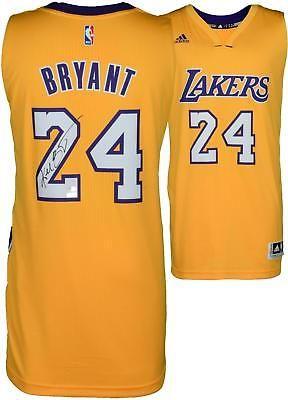 75b53d0f9869 Kobe Bryant Los Angeles Lakers Autographed Gold Swingman Jersey Panini   Basketball