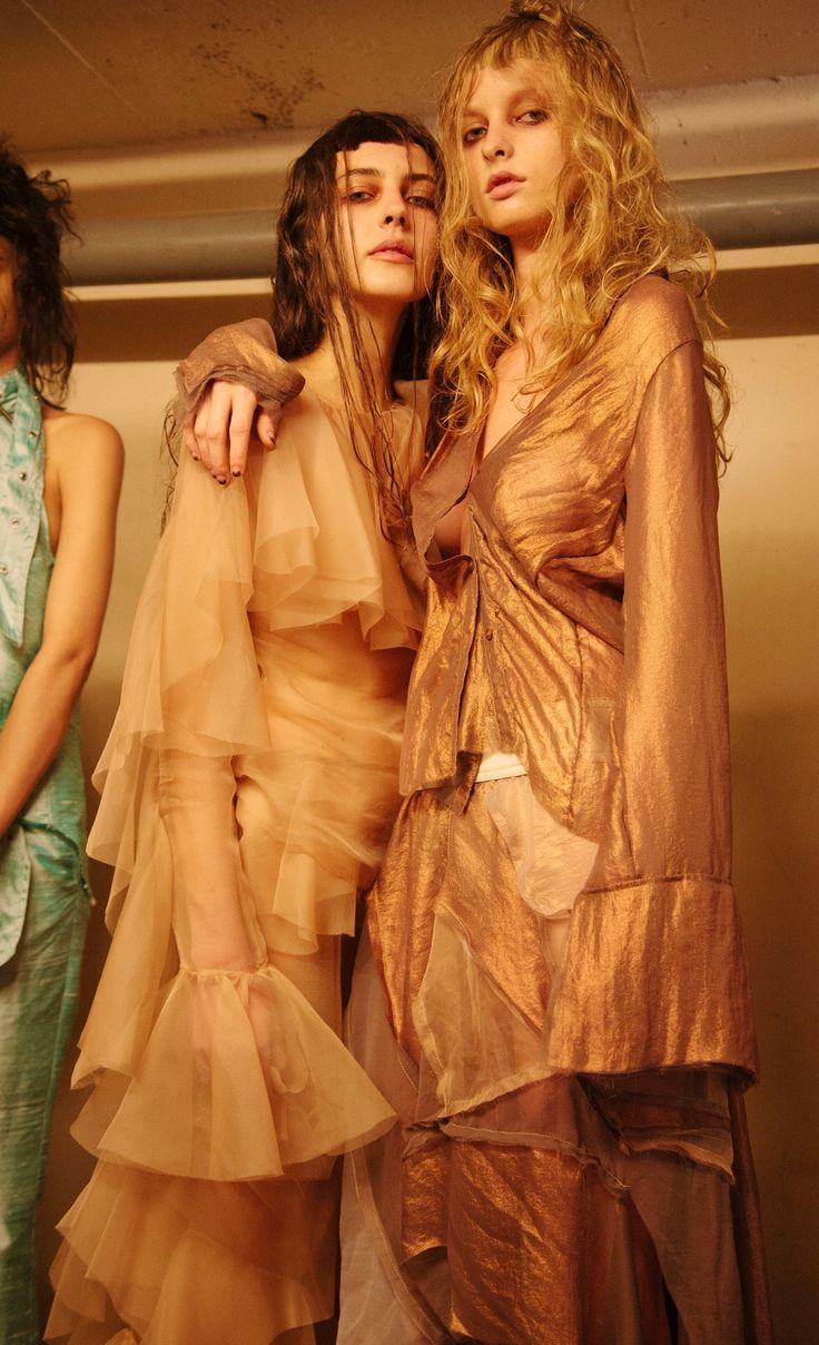 New romanticism with sheer ruffles and luscious layered fabrics.  Marques'Almeida SS16