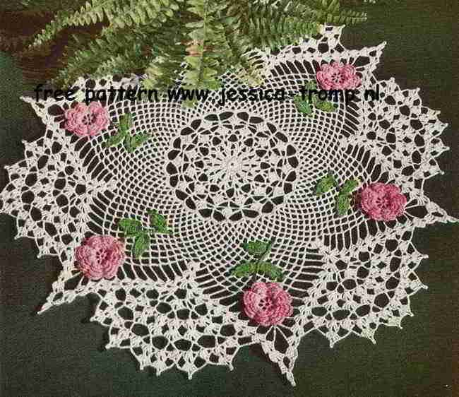 The Rose Doily    Gifts  Star Gift Book No. 140  American Yarn Company