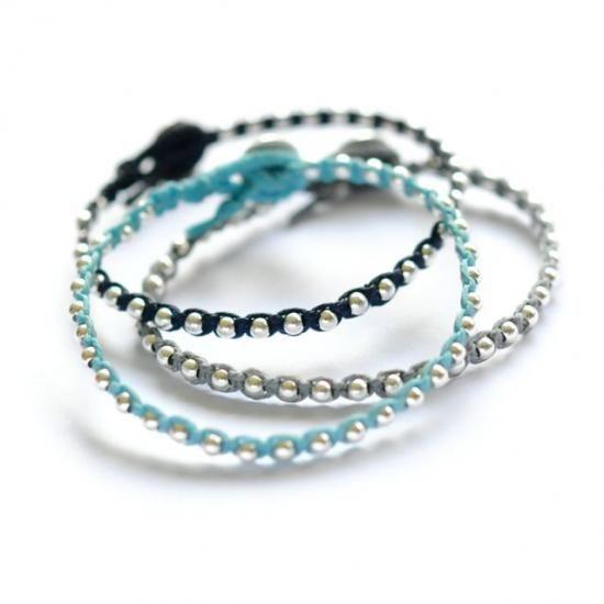 knotted friendship bracelets  #DIY #craft #bead #bracelet #knotting #macrame