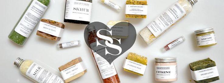 We love Sarah's Soaps! They're handcrafted, small batch, natural apothecary, and vegan. Need we say more?