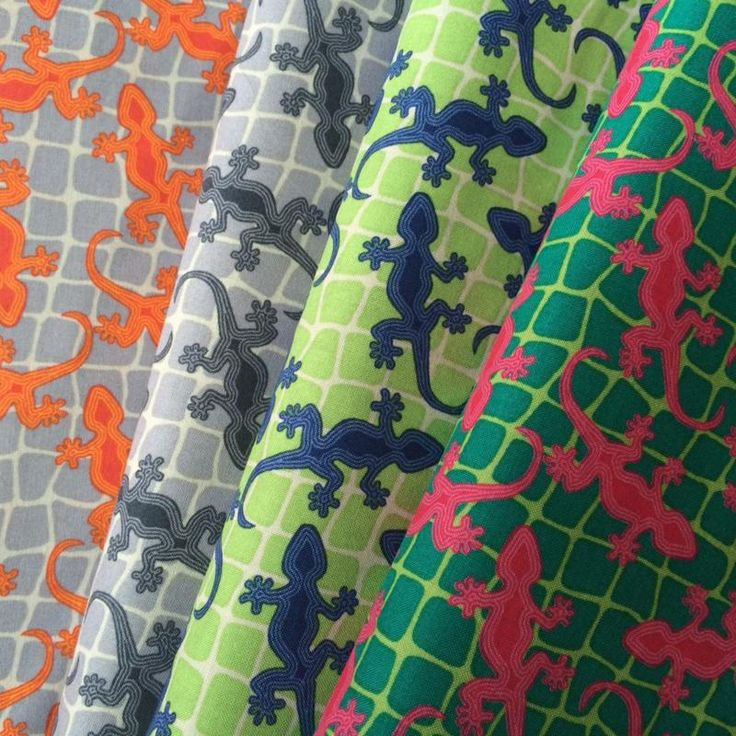 Terra Australis 2 by emma jean jansen  Geckos in 4 colour ways