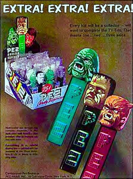 Cool vintage Universal Monsters Pez dispensers. #vintage #Halloween_candy