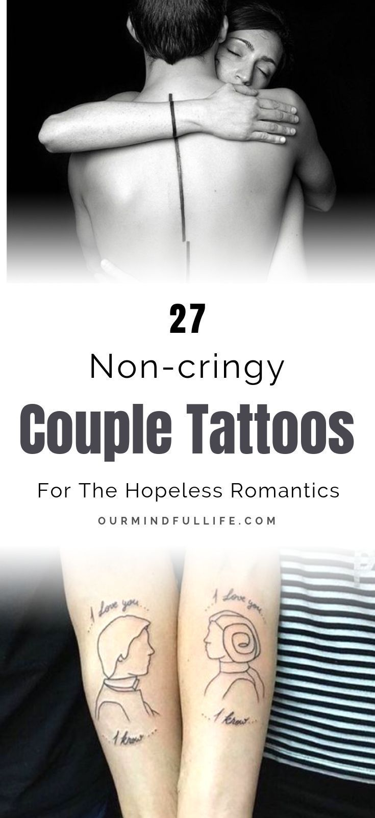 109 Hopelessly Romantic Couple Tattoos That Are Better Than A Ring Meaningful Tattoos For Couples Romantic Couples Tattoos Married Couple Tattoos