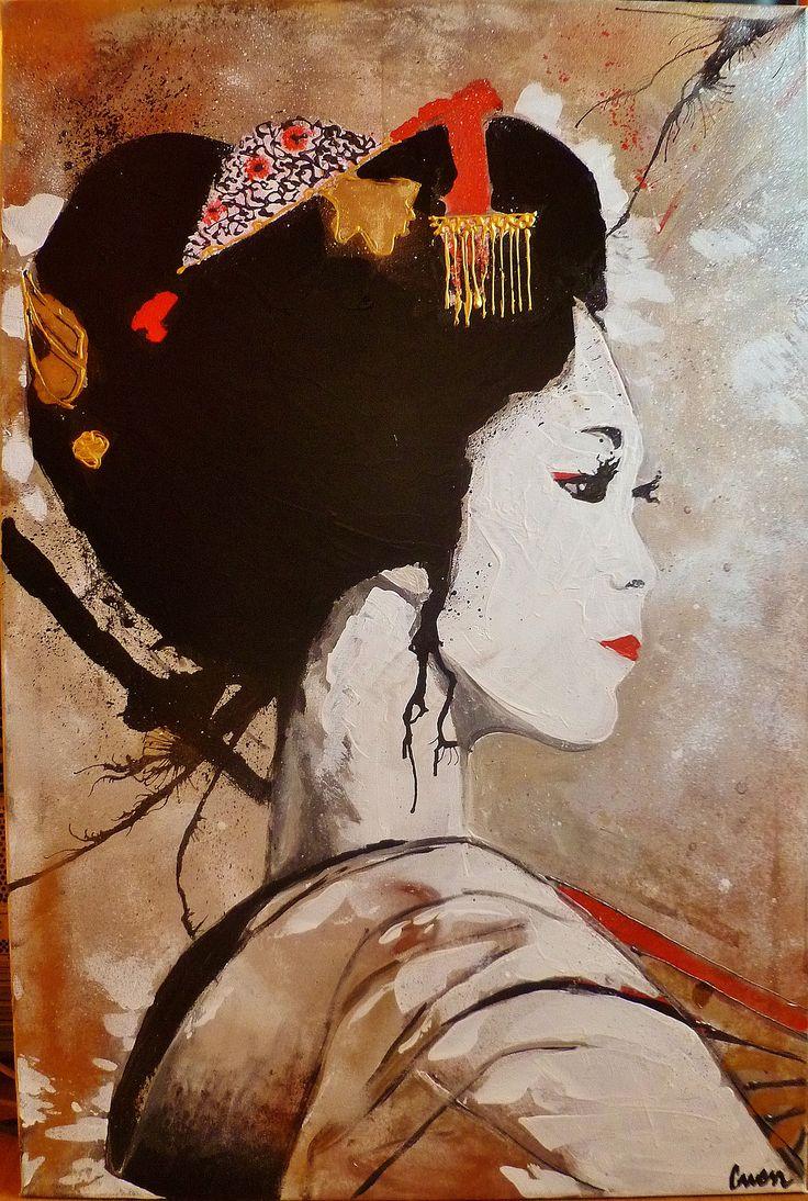 contemporary geishas art | Geisha 5, Gwen, Painters, Artists
