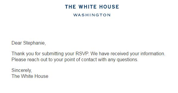 When you're invited to the White House to participate in First Lady Michelle Obama's Let's Move! event, you say YES.