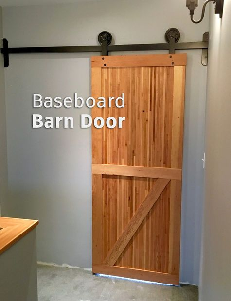 How to make a door out of old baseboards.