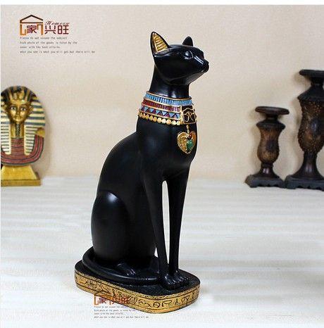 Aliexpress.com: Comprar Arte de la resina áfrica dios egipcio gato típica lujoso decorativo escultura 38 cm alta el mayor gato de la resina de la guardia de 2 colores de decoración confiables proveedores de COZY HOME Household Store.