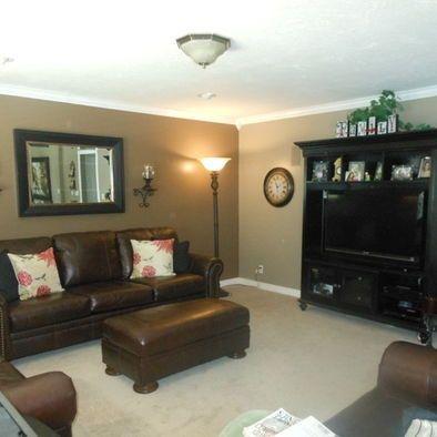 Family Room Dark Brown Sofa