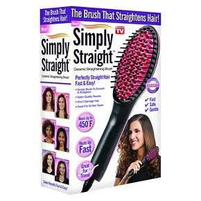 As Seen On TV Simply Straight™ Ceramic Straightening Brush : Target