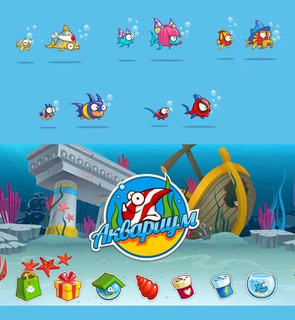 Social Game Aquarium by Anna Denisova, via Behance