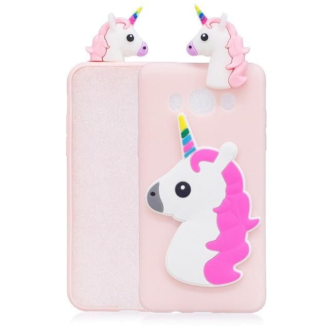cover samsung j3 2016 unicorno