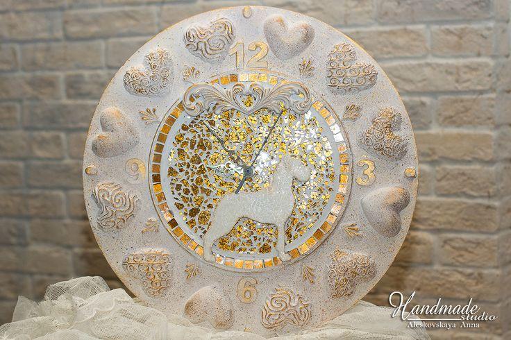 Great Danes. Art work. Wall Clock.