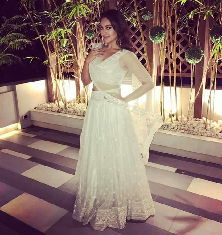 Image result for Sonakshi Sinha white dress in a wedding