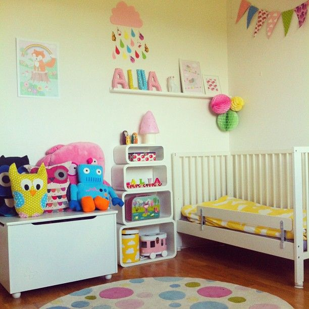 Obviously a younger kid's room but with cute ideas. I would like to make a banner like that for the wall the mural doesn't cover.