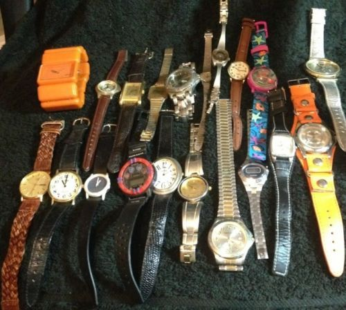Watch Lot for Parts Repair Bands Guess Timex Bulova Fossil Disney Gucci | eBay