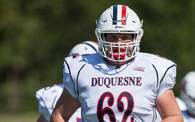 Falcons sign former Duquesne tackle Larson Graham, roster hits 90 players