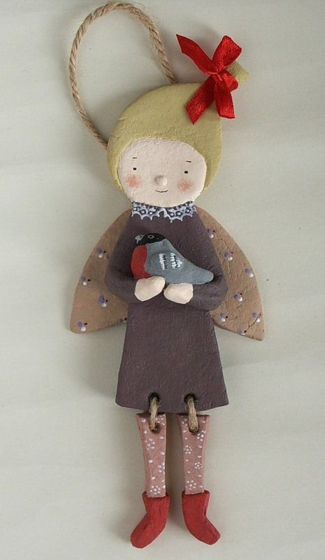 Salt Dough Doll, idea for other things with robe-attachments