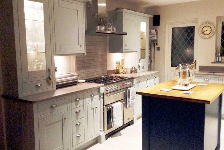 Diy Kitchens an innova harewood cornflower blue kitchen - http://www.diy