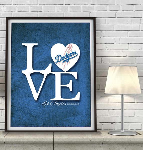 LA Los Angeles Dodgers baseball Inspired ART by ParodyArtPrints