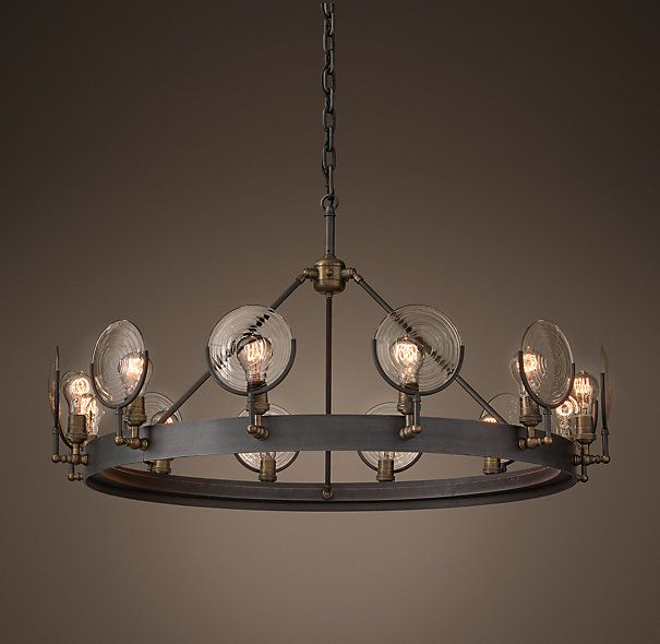 "Getting this for the house!!! Gaslight Lens Chandelier 42"" Restoration Hardware - RH -"
