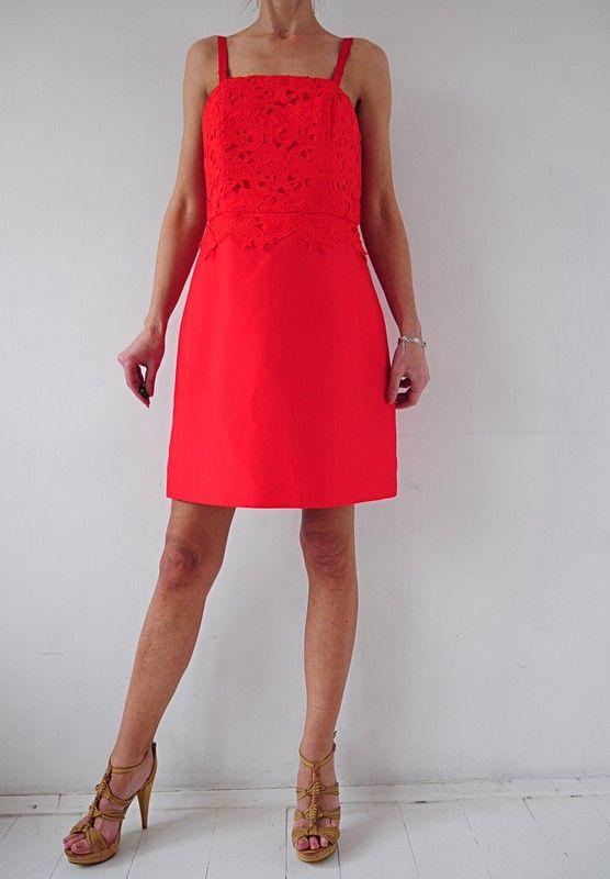 6700e61c0c H M sukienka czerwona koronka gorsetowa 40 - Vinted