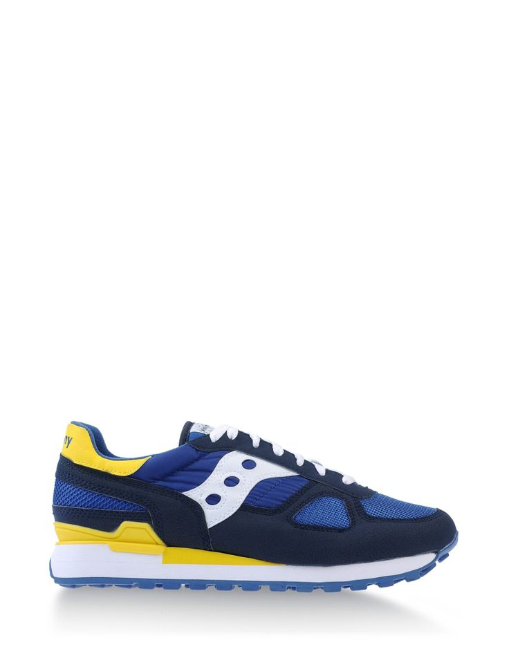 Sneakers by WHITE MOUNTAINEERING x SAUCONY #yellow #blue #collaboration #fashion #menswear #urban #street #casual #trend