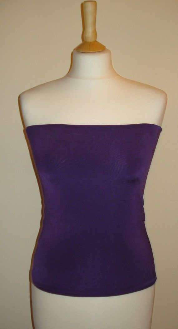 Light Aubergine Bandeau Top Tube Top Boob Tube by stitchawayrose