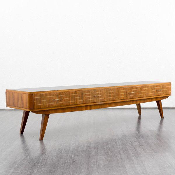 Vintage Kommoden - 60er Lowboard, Nussbaum m. Resopal, 220cm - ein Designerstück von Velvet-Point bei DaWanda