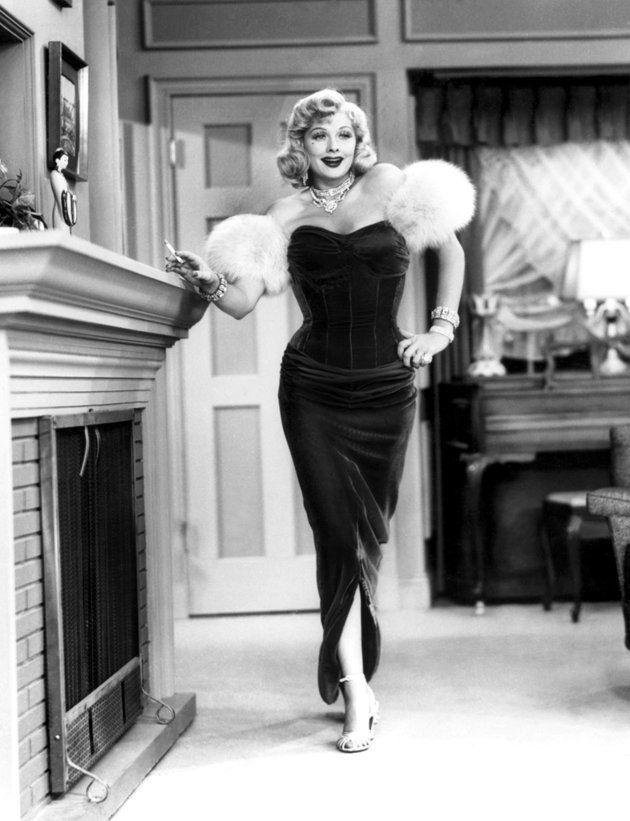 "Lucille Ball dolled up like Marilyn Monroe in a 1954 episode of ""I Love Lucy."""