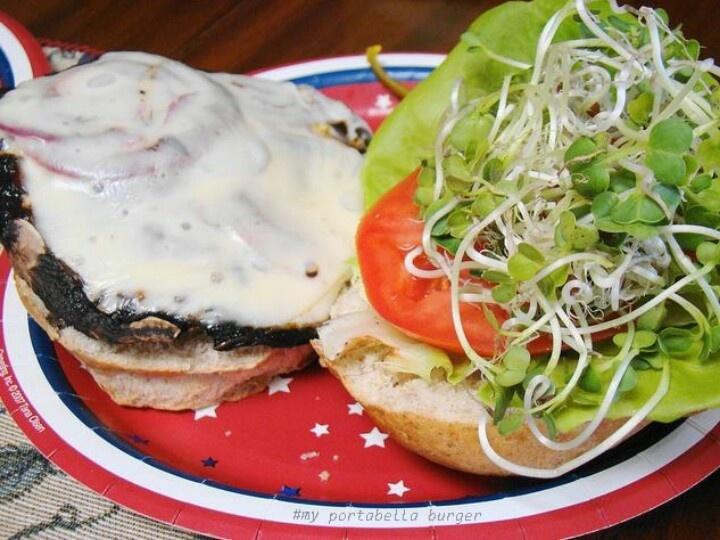 ♡ portabella burger ♡