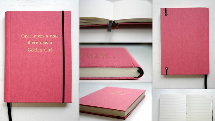 Personalized notebook with  embossed gold cover <3