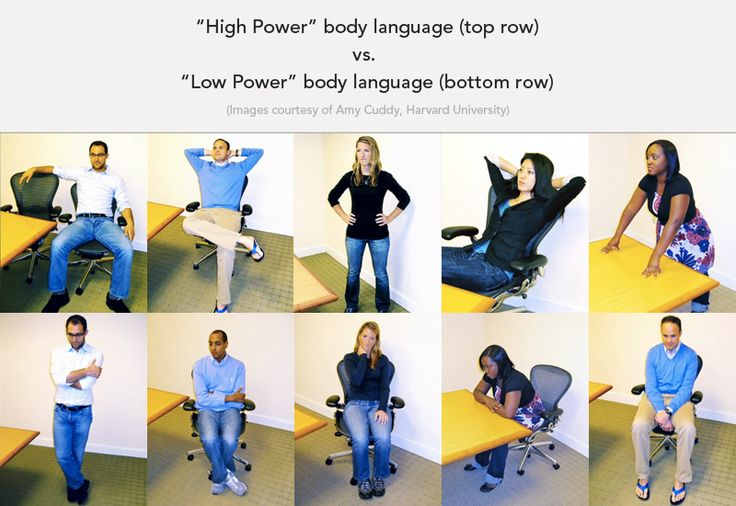 power poses to appear confident