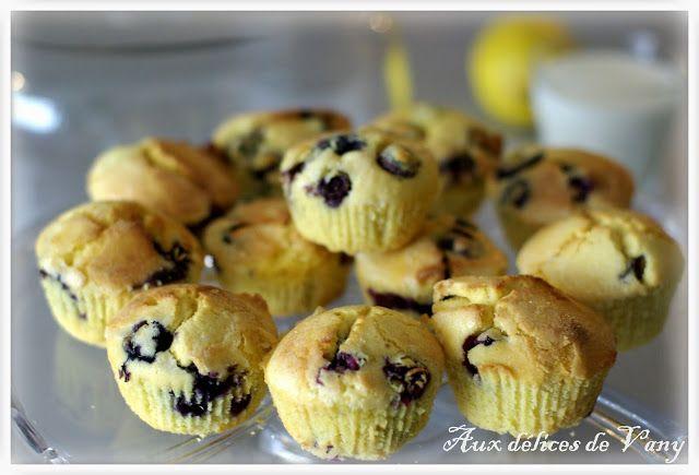 Aux délices de Vany : Muffins aux myrtilles et à la farine de maïs (avec ou sans Thermomix)