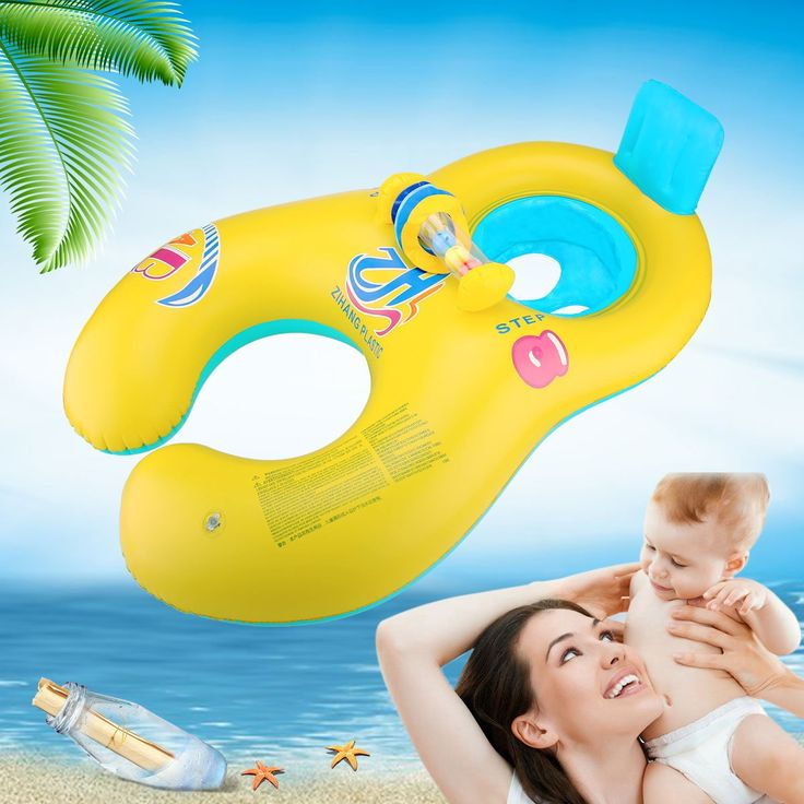 Mommy And Baby Inflatable Baby Pool Float Toys Raft Play With Seat Dual  Swimming Rings For