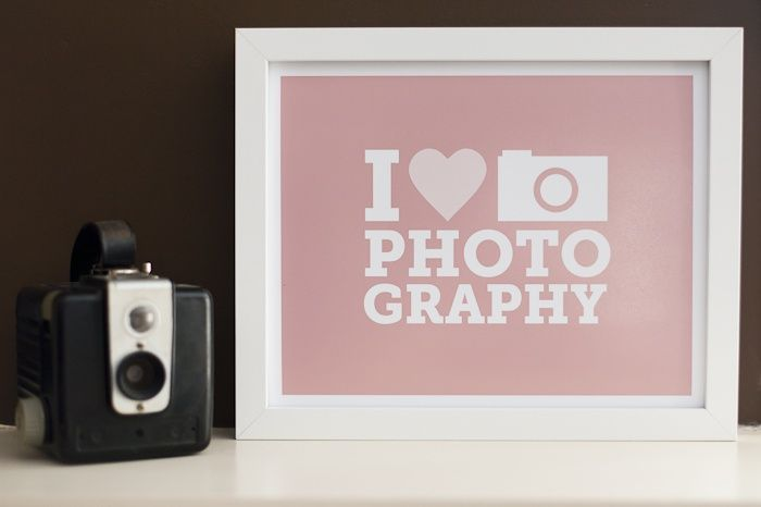 Free I Heart Photography Poster Pack