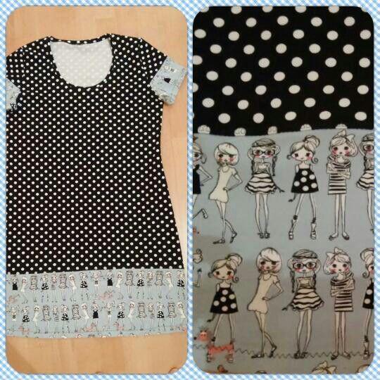 Nachthemd für große Mädchen Schnittmuster: Frau Fannie von schnittreif, angepasst