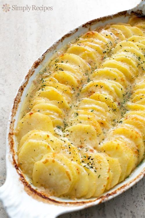Scalloped Potatoes with Caramelized Onions and Gruyere