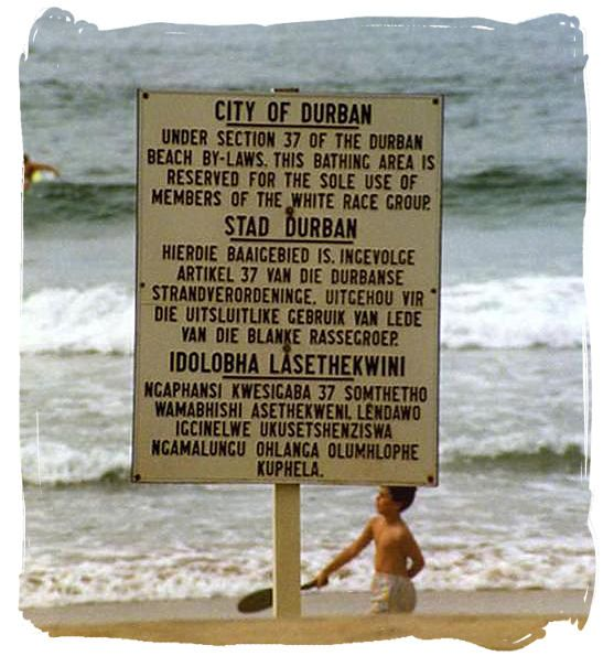 Sign from Apartheid days.