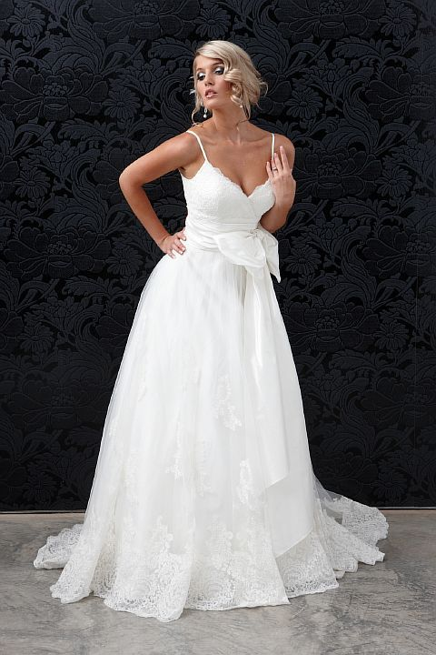 princess ballgown lace silk wedding gown with dupion silk tulle lace