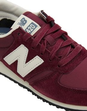 Image 2 of New Balance 420 Burgundy Suede Sneakers