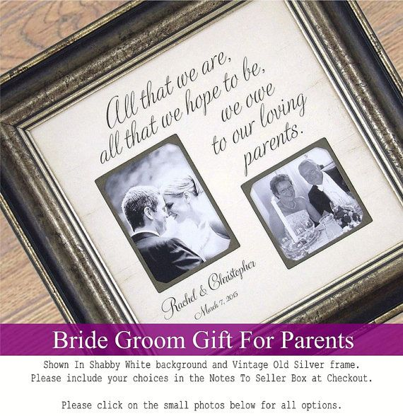 Personalized Picture Frame Wedding Gift For Parents and Father Of The ...